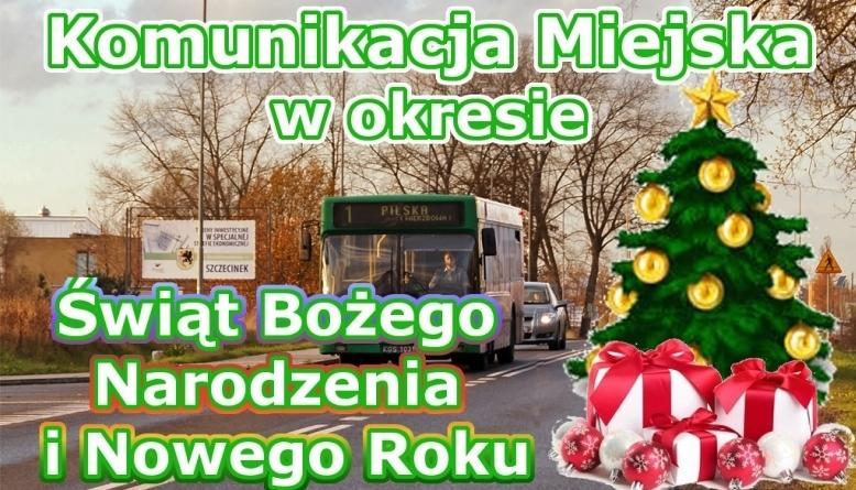 Kursowanie autobusów w święta i nowy rok