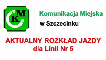 Zmiana trasy i rozkładu jazdy linii nr 5 od dnia 23.04.2019r.