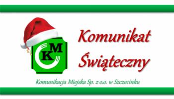 Komunikat świąteczny