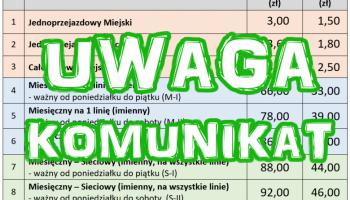 UWAGA Komunikat
