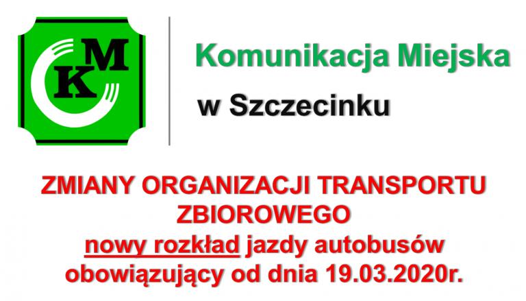 Nowy, tymczasowy rozkład jazdy autobusów od dnia 19-03-2020 r.